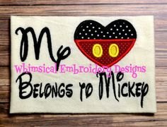 My Heart Belongs to Mouse Embroidery by WhimsicalEmbroidery, $4.00