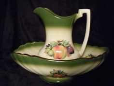 Mayfayre Staffordshire Wash Basin and Pitcher