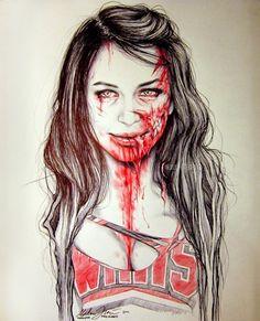 Naya Rivera zombie art
