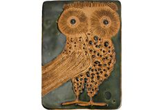Hal Fromhold Ceramic Owl Tile