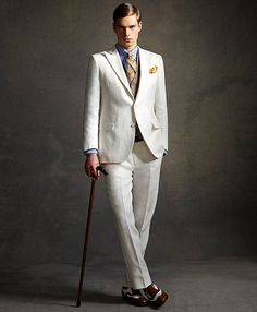 The Great Gatsby Collection Ivory Linen Suit from Brooks Brothers