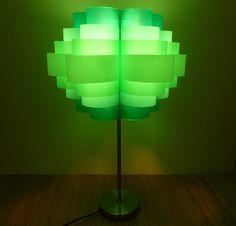 Lamp made from plastic bottles