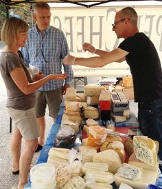 Michigan City Indiana farmers market cheese.
