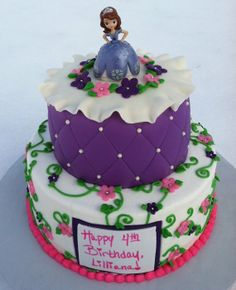 3rd bday sofia the first, birthday parti, 4th birthday, princess sofia, cake idea, birthday idea, first birthdays, parti idea, first birthday cakes