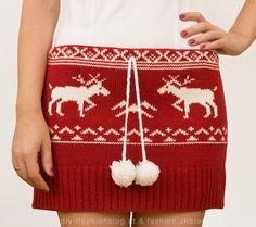 christmas sweater skirt