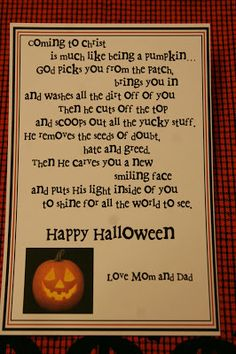 My goodness! Who would have thought Halloween and coming to Christ would work together in a package? Include Halloween theme candy and a couple general conference talks about coming to Christ.