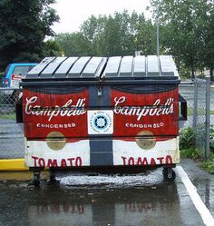 Campbell's Soup Can Dumpster