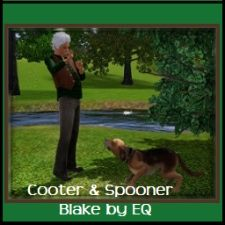 Cooter & Spooner created by me using Th3 Sims 3 http://www.thesims3.com/assetDetail.html?assetId=5138450  Cooter and his dog Spooner have been together for a long time. Between Cooter's mean streak and Spooner's agressive trait their neighbors tend to avoid them. Created by EQ for Western World project at http://ts3cc.forumotion.ca TS3 Creators' Consortium II. You are invited to join the creative fun! May contain items from any EP, SP or EA Store. No 3rd party CC.
