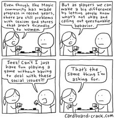 Sexism and gaming, specifically Magic: The Gathering.