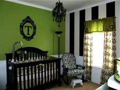 Tim Burton Beetlejuice inspired nursery, baby, newborn room theme