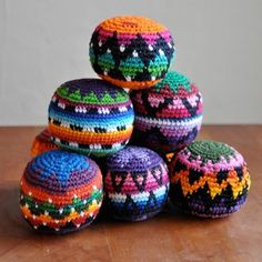 Fair Trade #crochet hacky sacks made by artisans in Guatemala #aff