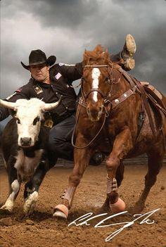 Luke Branquinho, World Champion Steer Wrestler.