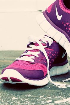 pink and purple Nikes