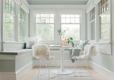 | Bright, simple and pretty sunroom