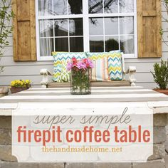 How to build a fire pit table top {tutorial} by @Ashley Mills {the handmade home}