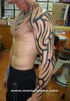 Tribal Full Arm Tattoo