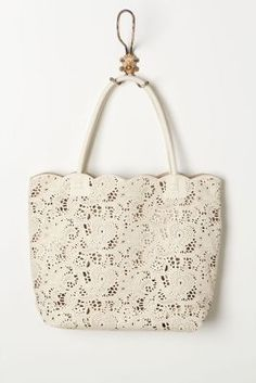 lace tote #TooFacedSummer
