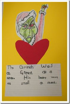Classroom Christmas activities -- love the Grinch!  <3