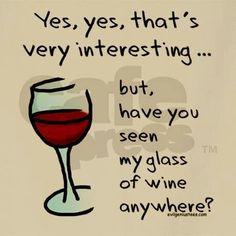 Where's my wine?