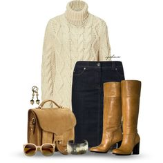 """Skirt & Boots"" by cynthia335 on Polyvore"