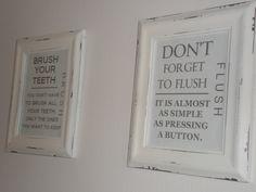 Free printable bathroom signs