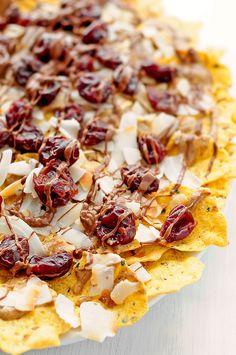 Chocolate Cherry Coconut Dessert Nachos | Udi's® Gluten Free Bread