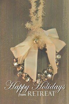 vintage jingle bell wreath