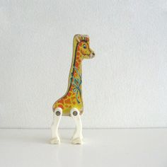 Home: Eleven Vintage Toys For Your Favourite Kidlet  by Pip Lincolne (Vintage wooden Circus Giraffe Fisher Price toy by ismoyo)
