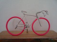 Racing bike with pink wheels. $14.00, via Etsy.