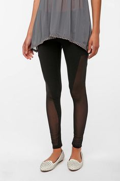 one up the girl next doors leggings with these x-ray mesh pants. #urbanoutfitters Out From Under Mesh Panel Legging  #UrbanOutfitters