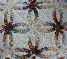 Double Wedding Ring quilt.