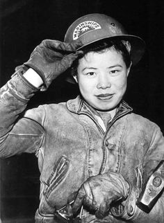 The demands of wartime production enabled Chinese Americans to move into the American workforce in large numbers. For the first time Chinese American women took on jobs as welders, riveters, burners and flangers.