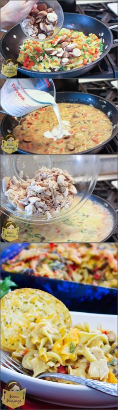 Easy Cajun Chicken Pasta Bake - Super easy recipe to feed a small army on a small budget with a big flavor on a busy weeknight!  Step-by-step photos! <3