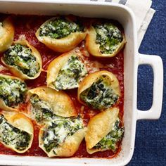 Vegetable and three-cheese stuffed shells is just the right home-cooked comfort for tonight. #recipes #cheesygoodness Foods, Pasta Recipes, Pasta Dishes, Dinners, Stuf Shell, Stuffed Shells, Delicious Vegetables, Threechees Stuf, Red Wines