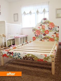 Before & After: Simple IKEA Wooden Bed Frame Gets a Luxe Upholstered Look — All Things Campbell