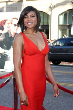 Wow! Sexy lady in red! The Talk: Taraji Henson Person of Interest & The Amazing Race Winners <3