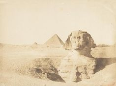 Oldest known photograph of the Great Sphinx of Giza, by Maxime Du Camp, 1849.