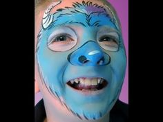 """Monsters University Inspired """"Sully"""" Face Paint Design VIDEO Tutorial"""