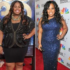 """Amber Riley, dropped two sizes since last July. She says.. """"I've always been comfortable with my size, I just decided it was time to get healthy"""" credits her weight loss success to cutting out fast food and by exercising...... My take away is that I don't have to drop two sizes by summer just do it right & it will come!"""