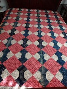 antiqu 1880s, bow ties, bow tie quilt, indigo cranberri, 1880s bow, quilt indigo, antiqu quilt