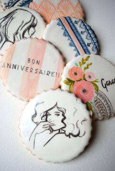 French Nouveau Bridal Cookie Set