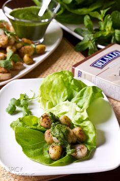 Shrimp and Gnocchi Lettuce Wraps + Giveaway