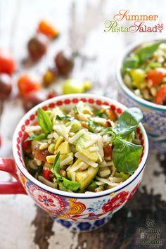 pasta salad, summer pasta, noodl