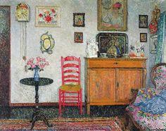 L'intérieur de la maison du peintre by Leon de Smet