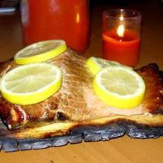 Canadian Cedar Planked Salmon