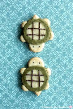 cute turtle cookies