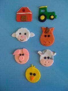 Farm Animals Cupcake toppers www.HauteTart.Etsy.com