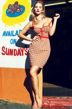 Canadian model Amanda Strachan