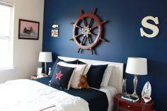 . bedroom decor, nautic bedroom