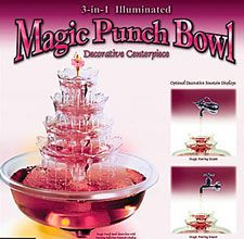 Lighted  Drink Fountain and  Punch Bowl 3 In 1